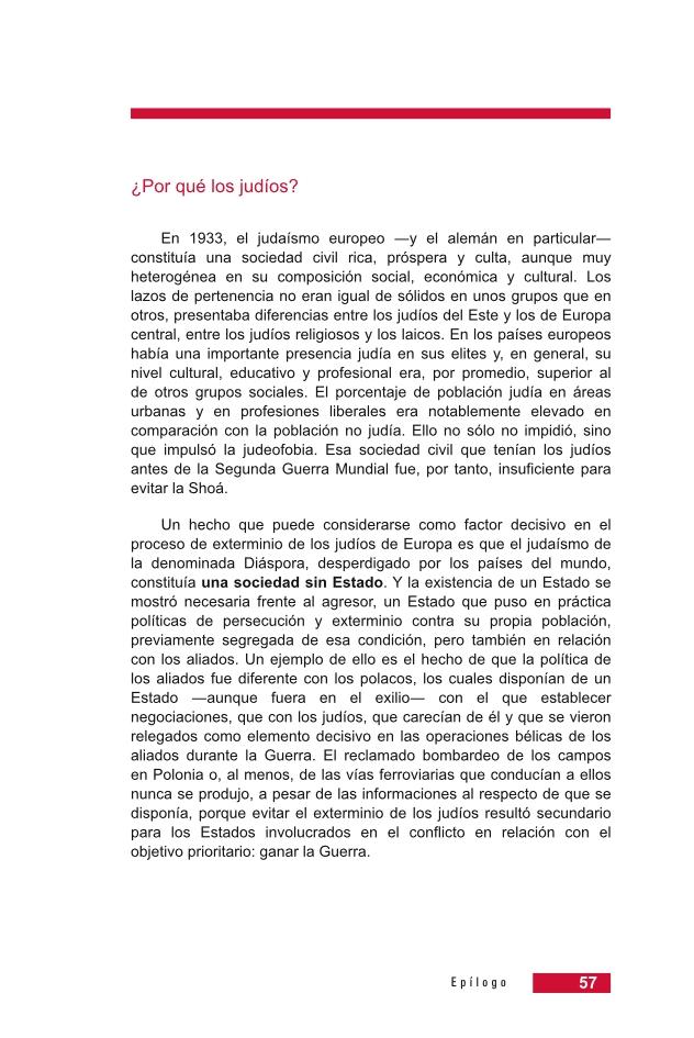 Página 57 de la Guía Didáctica de la Shoá