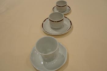 Juego de tazas y platos de café