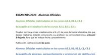 Exámenes 2020