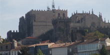 Vista general de la Catedral de Tuy, Pontevedra, Galicia