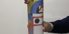 articulaciones cilíndricas en moviento sobre la obra de Sonia Delaunay
