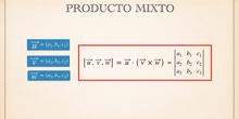 Producto Mixto. Aplicaciones y propiedades