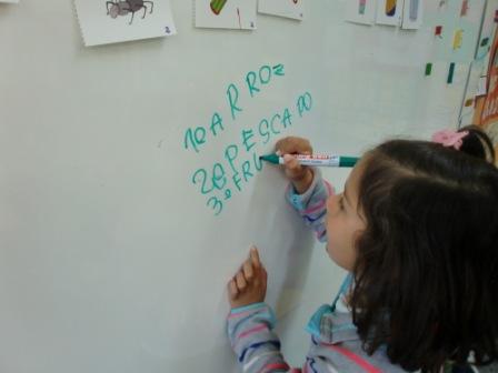 Las abejas escriben el menú escolar 6