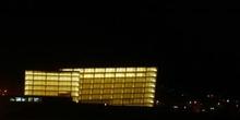 Vista nocturna del Auditorio-Palacio de Congresos Kursaal, San S