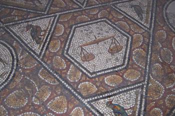 Detalle de mosaico, Museo del Bardo, Túnez