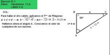 Trigonometría: 50. Ejemplo resolución triángulos 3