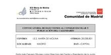 CONVOCATORIA DE ELECCIONES AL CONSEJO ESCOLAR IES MARÍA DE MOLINA 2018