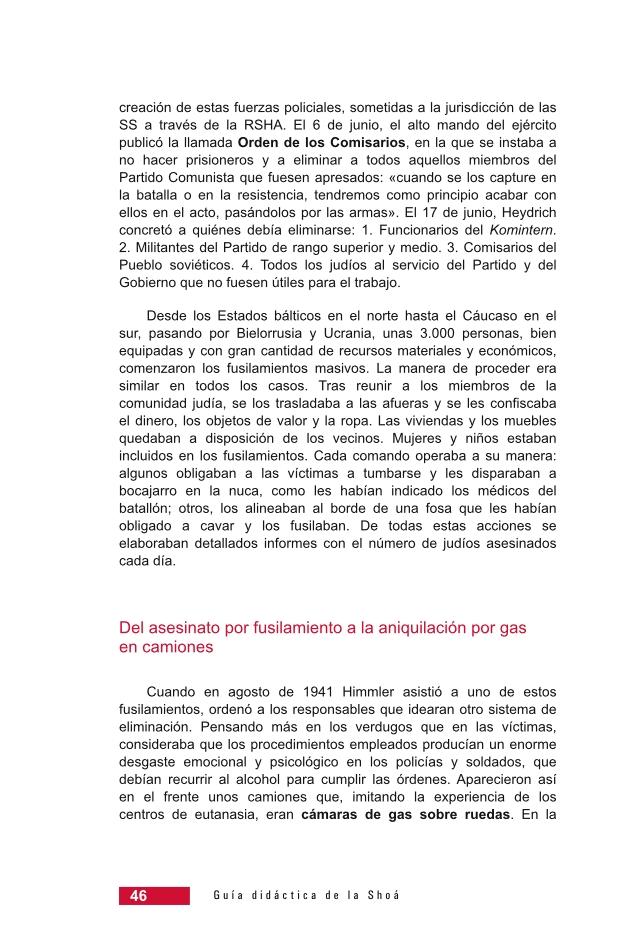 Página 46 de la Guía Didáctica de la Shoá