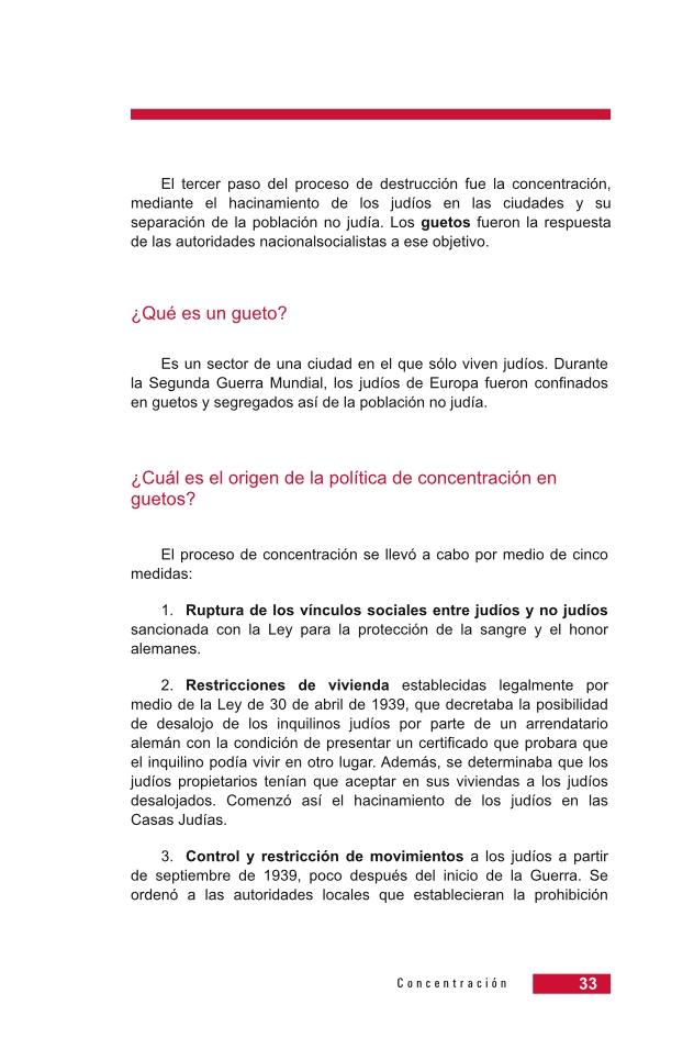 Página 33 de la Guía Didáctica de la Shoá