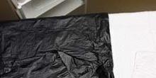 Aplicación localizada de parafangos: colocación de toallas y env