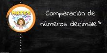 Comparación de números decimales