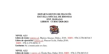 libros francés 2020