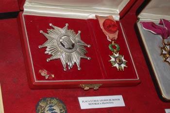 Placa y Cruz de la Legión de Honor de la Republica Francesa, Mus