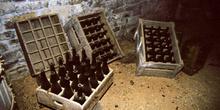Lagar de sidra: Antigua caja de botellas de sidra, Museo del Pue