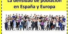 La densidad de población en España y Europa