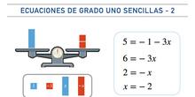 Ecuaciones de grado uno sencillas - Parte 2