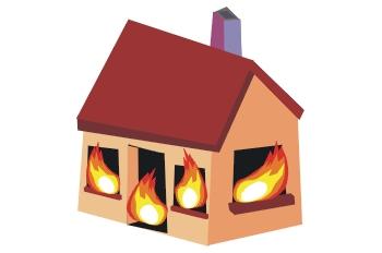 Casa ardiendo
