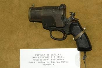Pistola de señales Webley Scott 1,5 Pulg., Museo del Aire de Mad