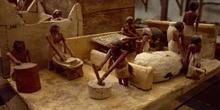 Representación de panaderos egipcios