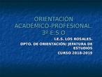 Orientacion Academica-Profesional del Curso 18-19 3º ESO