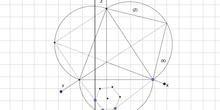 Sistema axonométrico representación de un hexágono regular