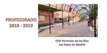 Profesorado del CEIP Fernando de los Ríos. Las Rozas de Madrid. Curso 2018-2019