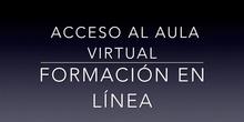 Acceso al aula virtual de formación en línea