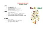 2019_04_23_SUGERENCIAS LECTORAS EDUCACIÓN INFANTIL_CEIP FDLR_Las Rozas