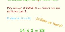 PRIMARIA 2º - DOBLE, TRIPLE Y MITAD - MATEMÁTICAS - FORMACIÓN