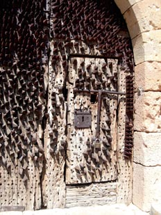 Cerrojo de puerta del castillo de Pedraza, Segovia, Castilla y L