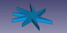 FreeCAD Práctica 2 Ejercicio 1 : Extruir una estrella