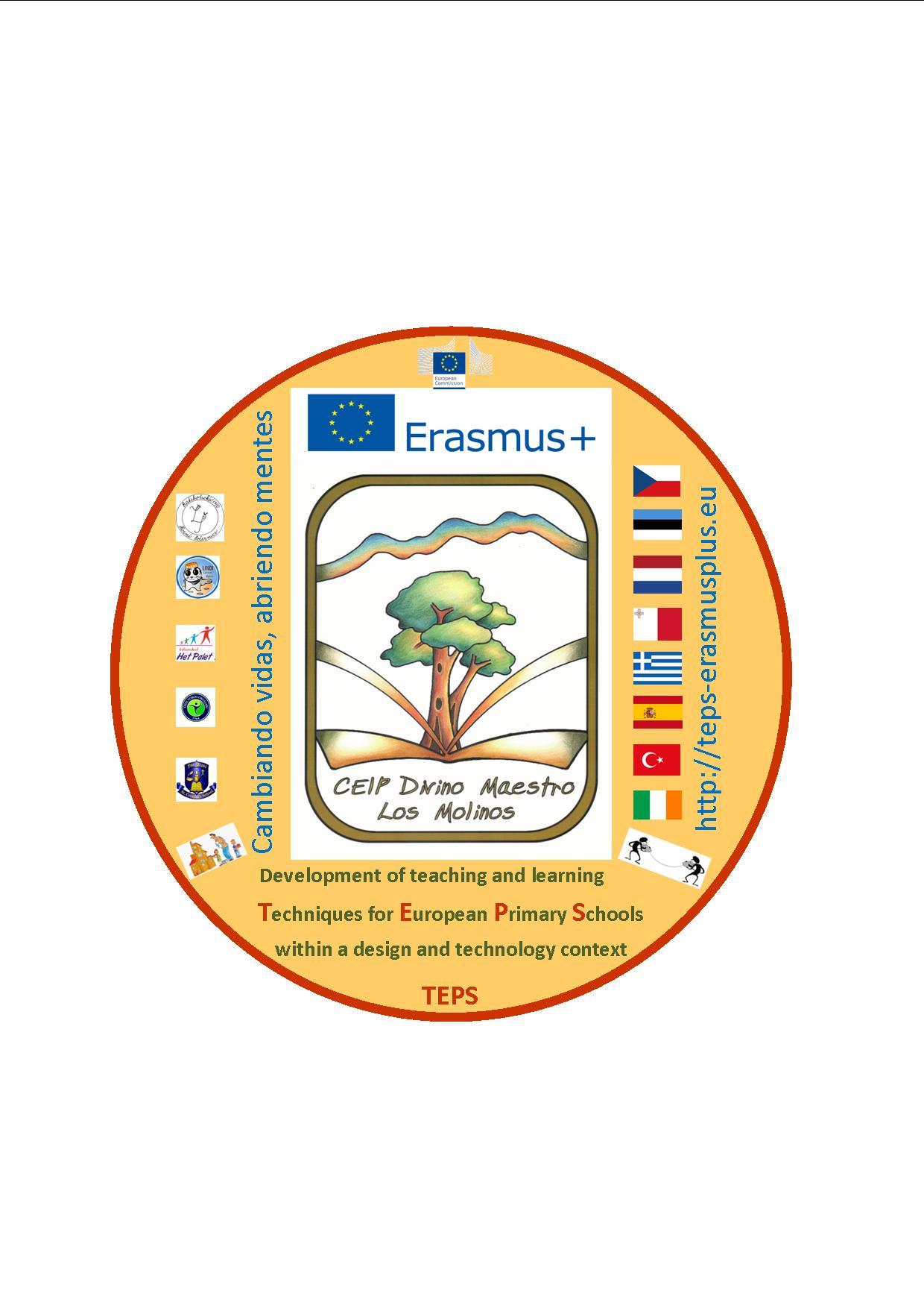 Logo Proyecto Erasmus Plus Divino Maestro Los Molinos