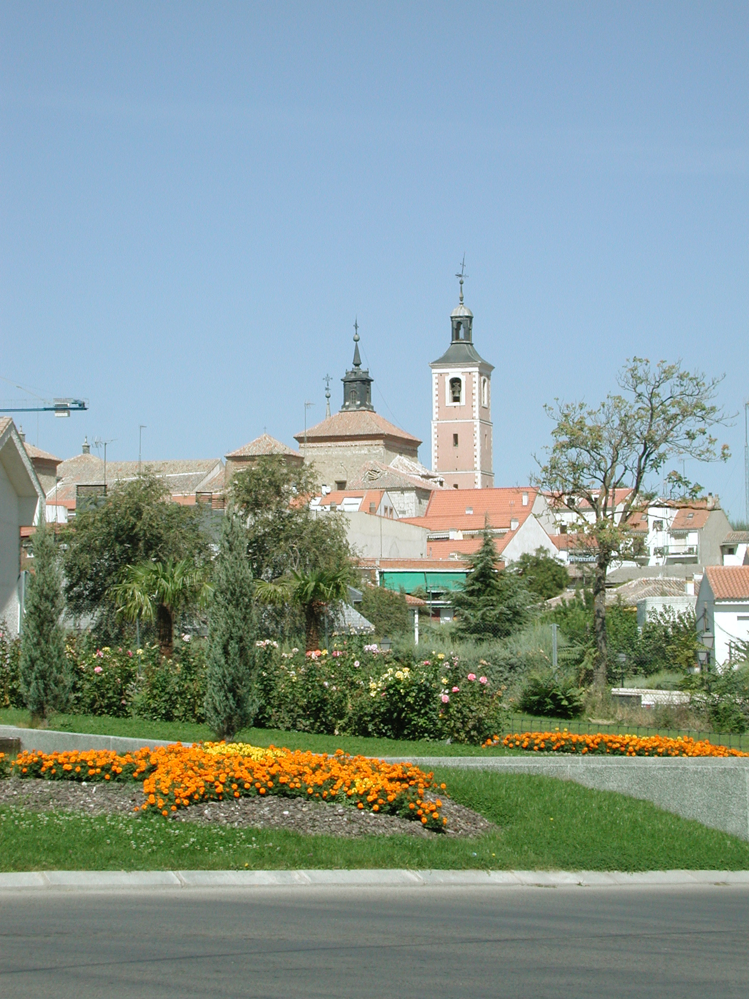 Vista de Valdemoro con iglesia al fondo