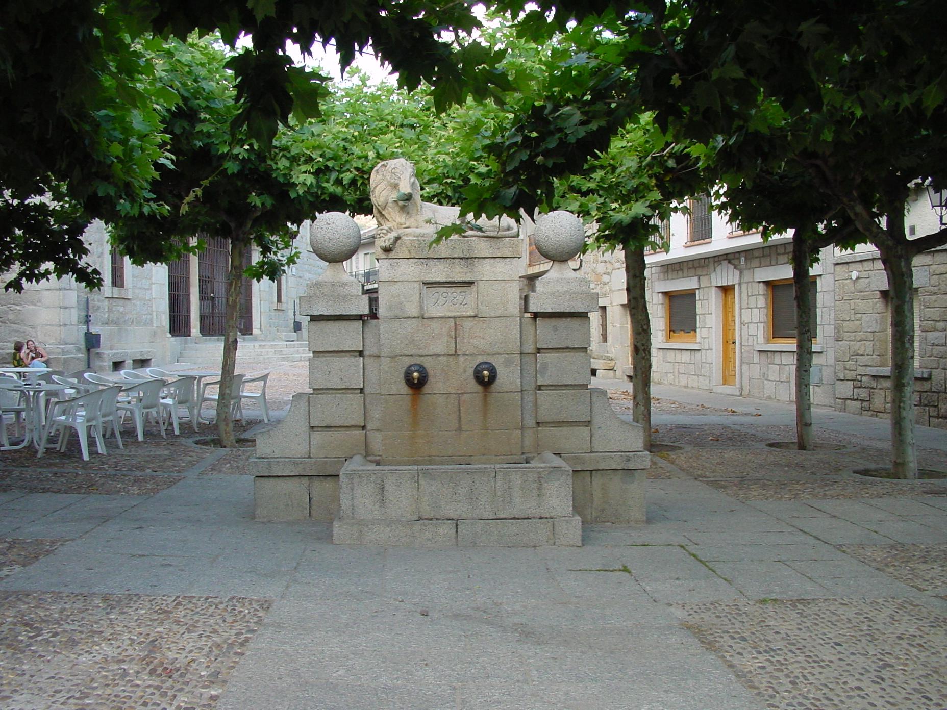 Fuente del León en Los Molinos