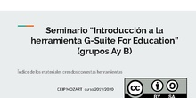 Indice con links al material Seminarios 189 y 192 CEIP MOZART 2019-2020