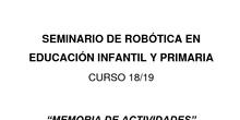 ACTIVIDADES DE PROGRAMACIÓN Y ROBÓTICA, EN INFANTIL Y PRIMARIA