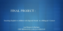Teaching English to children with Special Needs  in a Bilingual  Context
