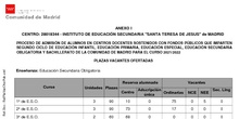 VACANTES PROCESO DE ADMISIÓN 21-22