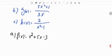 Tres ejercicios de dominio función polinómica y función racional