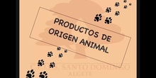 INFANTIL 3 AÑOSPRODUCTOS DE ORIGEN ANIMAL
