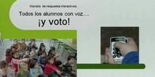 """""""Los mandos interactivos como complemento de la pizarra digital: todos los alumnos con voz... ¡y voto!""""  Dª.Henar Mínguez"""