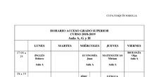 Horarios Acceso Ciclos 2018-19