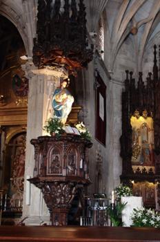 Púlpito de la Basílica de Santa María, Pontevedra, Galicia