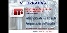 """Ponencia de D. Juan de Dios Tallo: """"Integración de las TIC en la programación de Filosofía"""""""