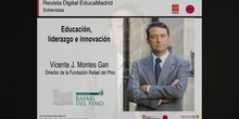 Entrevista. Vicente J. Montes Gan.  Director de la Fundación Rafael del Pino