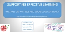 Mistakes on writings and vocabulary approach for Secondary