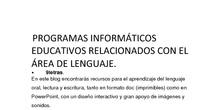 CPEE Severo Ochoa RECURSOS WEB PARA TRABAJAR EL ÁREA DE LENGUAJE