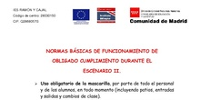 Normas Básicas de conducta - Escenario II - IES Ramón y Cajal
