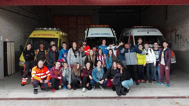 Visita de los alumnos de 3º ESO a Protección civil Móstoles
