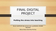 IN22  Putting the stress into teaching